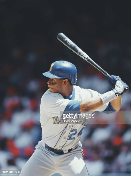 Ken Griffey Jr Centerfielder for the Seattle Mariners at bat during the Major League Baseball American League East game against the Detroit Tigers on...
