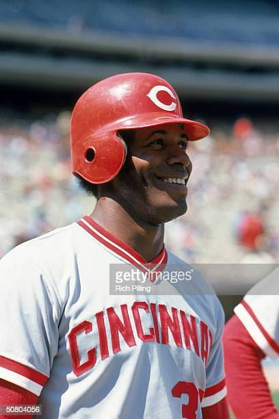 Ken Griffey of the Cincinnati Reds smiles during a game Griffey played for the Reds from 19731981 and 19881990