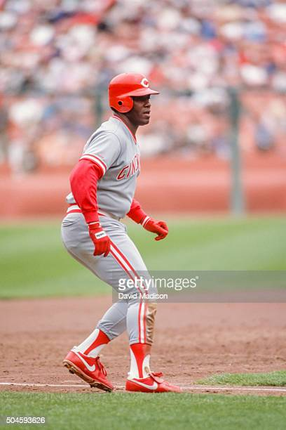 Ken Griffey Sr #30 of the Cincinnati Reds plays in a Major League Baseball game against the San Francisco Giants on June 6 1990 at Candlestick Park...