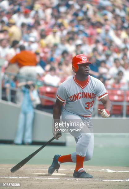 Ken Griffey Sr of the Cincinnati Reds bats during a game against the Pittsburgh Pirates at Three Rivers Stadium in 1979 in Pittsburgh Pennsylvania