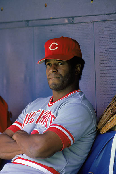 268ef8a2d1 1989: Ken Griffey Sr. of the Cincinnati Reds looks on from the dugout  during a MLB game in the 1989 season. ( Photo by: Rick Stewart/Getty  Images); buy ...