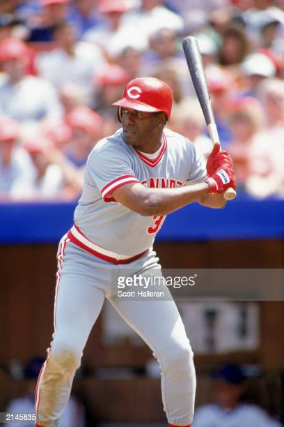 Ken Griffey Sr of the Cincinnati Reds stands ready at bat during a MLB game in the 1990 season