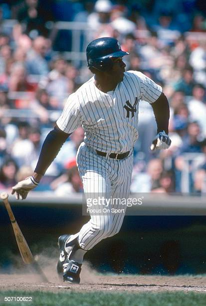 Ken Griffey Sr of the New York Yankees bats during a Major League Baseball game circa 1985 at Yankee Stadium in the Bronx borough of New York City...