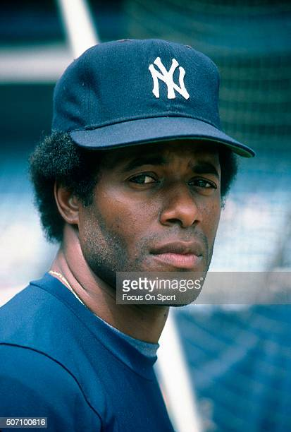 Ken Griffey Sr of the New York Yankees looks on during batting practice prior to the start of a Major League Baseball game circa 1985 at Yankee...