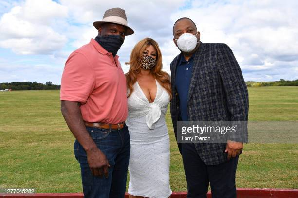 Ken Harvey, formerly of the Washington Football Team, singer Cece Peniston and Logical Technology and Research sponsor Todd Rogers are seen at...
