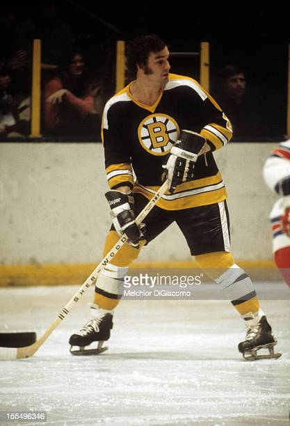 Ken Hodge of the Boston Bruins skates on the ice during an NHL game against the New York Rangers on January 4 1974 at the Madison Square Garden in...