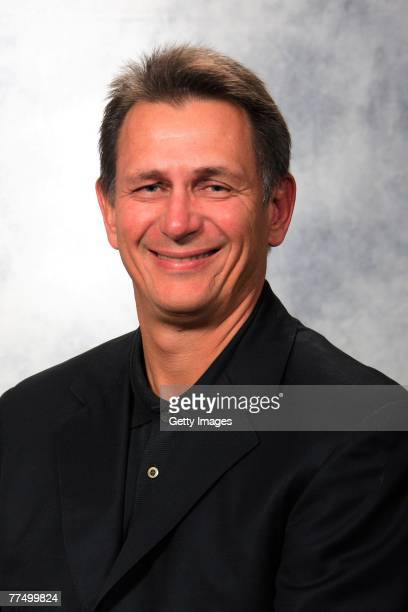Ken Holland of the Detroit Red Wings poses for his 2007 NHL headshot at photo day in Detroit Michigan