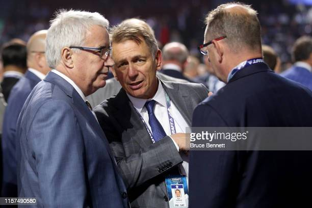 Ken Holland of the Edmonton Oilers attends the first round of the 2019 NHL Draft at Rogers Arena on June 21 2019 in Vancouver Canada