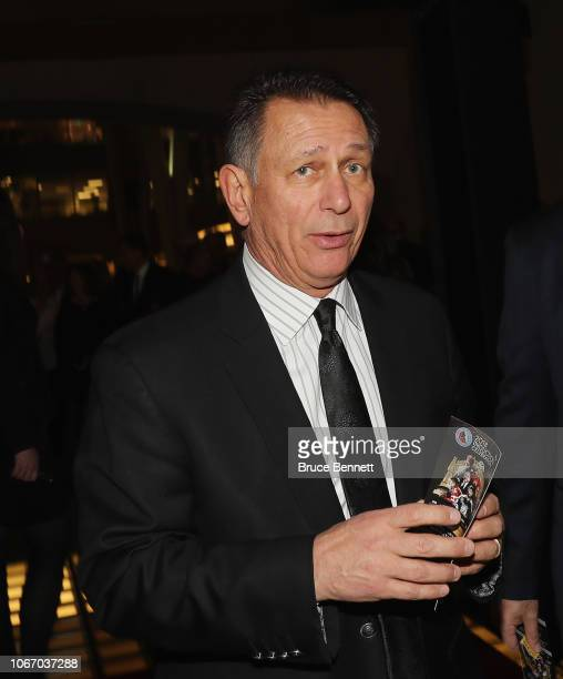Ken Holland walks the red carpet prior to the 2018 induction ceremony at the Hockey Hall Of Fame on November 12 2018 in Toronto Ontario Canada