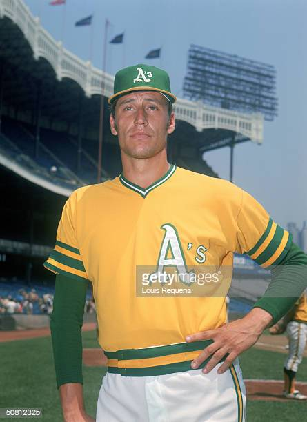 Ken Holtzman of the Oakland Athletics poses for a portrait circa 19721975 at Yankee Stadium in the Bronx New York