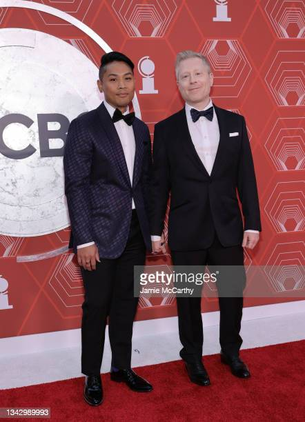 Ken Ithiphol and Anthony Rapp attend the 74th Annual Tony Awards at Winter Garden Theater on September 26, 2021 in New York City.