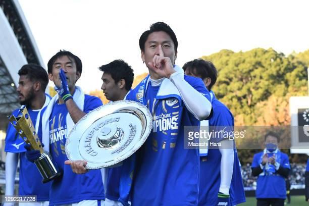 Ken Iwao of Tokushima Vortis looks on after the J.League Meiji Yasuda J2 match between Avispa Fukuoka and Tokushima Vortis at the Best Denki Stadium...