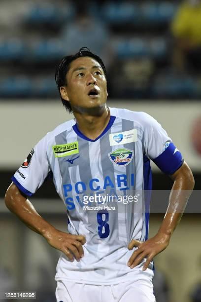 Ken Iwao of Tokushima Vortis looks on during the J.League Meiji Yasuda J2 match between Jubilo Iwata and Tokushima Vortis at Yamaha Stadium on July...