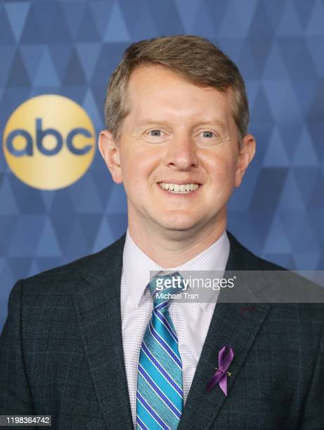 Ken Jennings attends ABC Television's Winter Press Tour 2020 held at The Langham Huntington Pasadena on January 08 2020 in Pasadena California