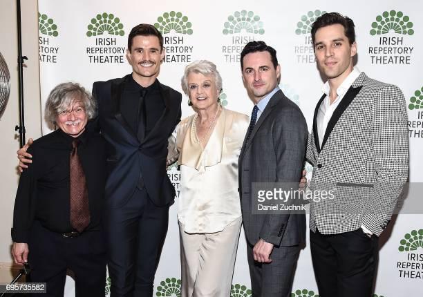 Ken Jennings Mark Evans Angela Lansbury Max Von Essen and Ryan Silverman attend the 2017 Irish Repertory Theatre Gala at Town Hall on June 13 2017 in...