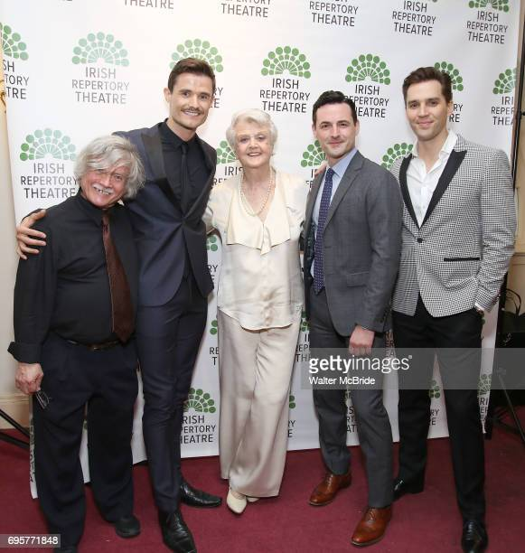 Ken Jennings Mark Evans Angela Lansbury Max von Essen and Ryan Silverman attend the 'Sondheim at Seven' 2017 Gala Benefit Production at Town Hall on...
