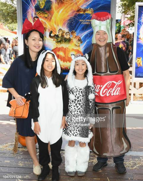 Ken Jeong and his family attend Columbia Pictures And Sony Pictures Animation's Goosebumps 2 Haunted Halloween Special Screening at Sony Pictures...