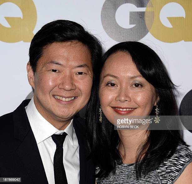 Ken Jeong and his wife Tran arrive for the 18th annual GQ Men of the Year Party at the Ebell of Los Angeles November 12 2013 in Los Angeles...