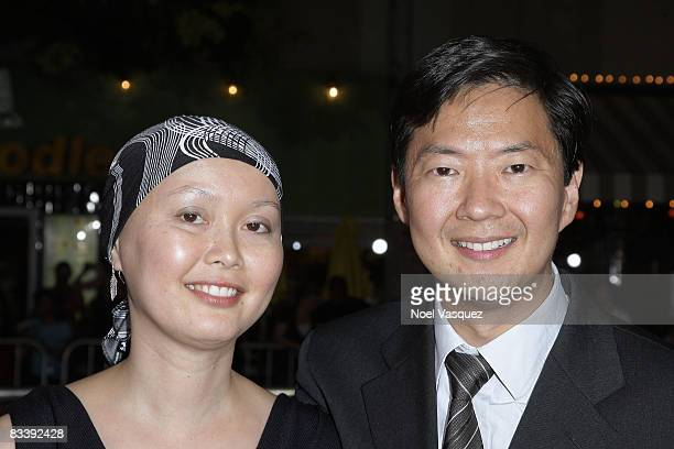 Ken Jeong and his wife Tran attend the premiere of Universal's Role Models at Mann's Village Theatre on October 22 2008 in Los Angeles California