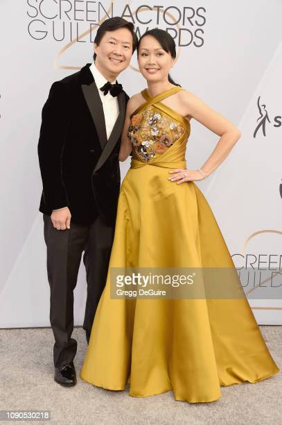 Ken Jeong and Tran Jeong attend the 25th Annual Screen ActorsGuild Awards at The Shrine Auditorium on January 27 2019 in Los Angeles California...