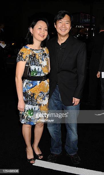 Ken Jeong and wife arrive at the Los Angeles premiere of Due Date at Grauman's Chinese Theater on October 28 2010 in Hollywood California