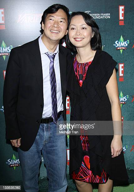 Ken Jeong and wife arrive at Variety's 2nd Annual Power of Comedy event held at The Hollywood Palladium on November 19 2011 in Los Angeles California