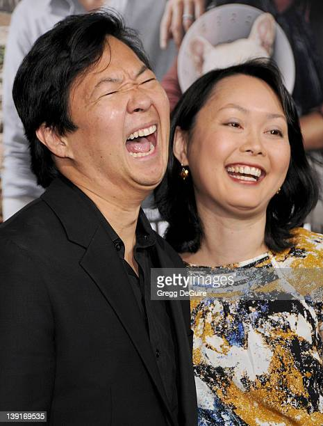 Ken Jeong and wife Tran Ho arrive at the Los Angeles Premiere of Due Date at the Grauman's Chinese Theater on October 28 2010 in Hollywood California