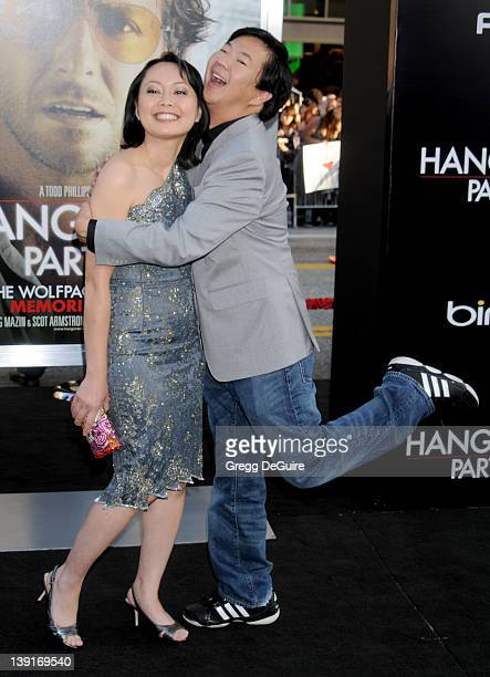 Ken Jeong and wife Tran Ho arrive at the Los Angeles Premiere of The Hangover Part II at the Grauman's Chinese Theatre on May 19 2011 in Hollywood...