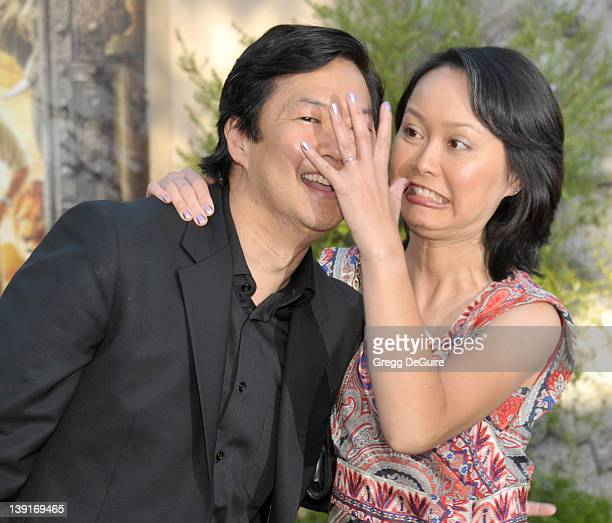 Ken Jeong and wife Tran Ho arrive at the World Premiere of Zookeeper at the Regency Village Theatre on July 6 2011 in Westwood California