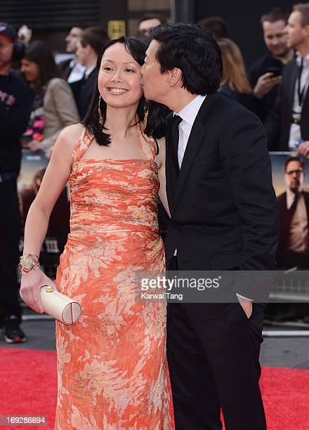 Ken Jeong and wife Tran Ho attend The Hangover III UK film premiere at The Empire Cinema on May 22 2013 in London England