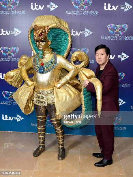 Ken Jeong attends The Masked Singer photocall at The Mayfair Hotel on December 12 2019 in London England