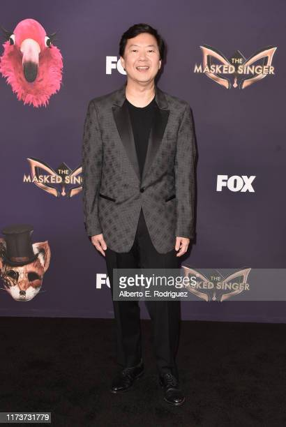 Ken Jeong attends the premiere of Fox's The Masked Singer Season 2 at The Bazaar at the SLS Hotel Beverly Hills on September 10 2019 in Los Angeles...