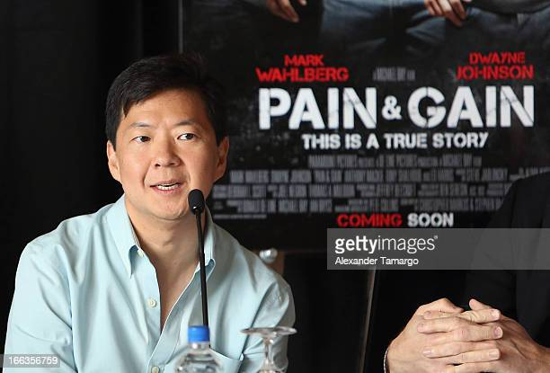 Ken Jeong attends the press conference of the Miami Premiere of 'Pain Gain' at Mandarin Oriental on April 11 2013 in Miami Florida