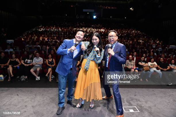 Ken Jeong Awkwafina and Nico Santos arrive In Toronto To introduce The Release Of Crazy Rich Asians on July 30 2018 at Tiff Bell Lightbox in Toronto...