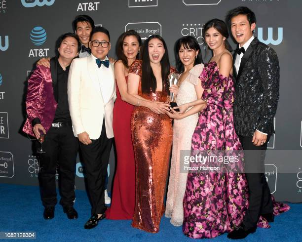 Ken Jeong Chris Pang Nico Santos Michelle Yeoh Awkwafina Constance Wu Gemma Chan and Harry Shum Jr winners of Best Comedy Movie for 'Crazy Rich...