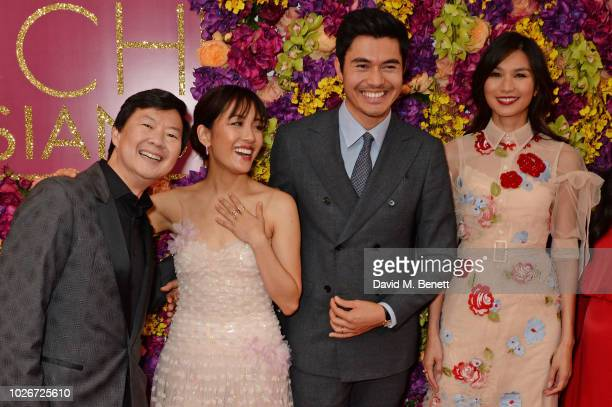 Ken Jeong Constance Wu Henry Golding and Gemma Chan attend a special screening of 'Crazy Rich Asians' at The Ham Yard Hotel on September 4 2018 in...
