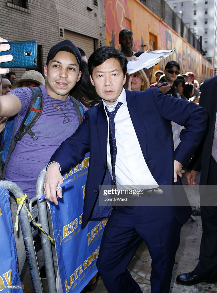 Ken Jeong greets fans at 'Late Show with David Letterman' at Ed Sullivan Theater on June 19, 2013 in New York City.