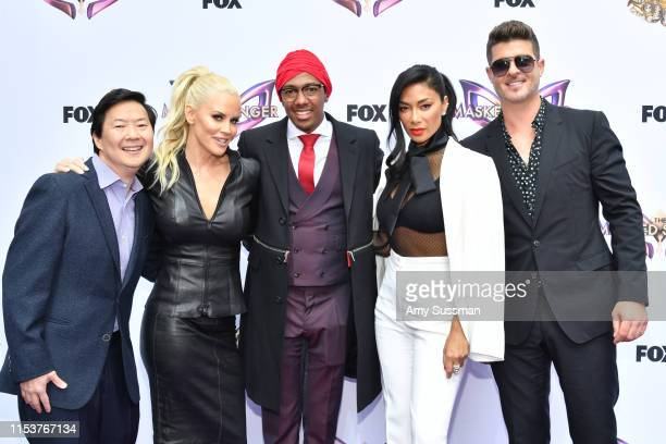 Ken Jeong Jenny McCarthy Nick Cannon Nicole Scherzinger and Robin Thicke attend FYC event for Fox's The Masked Singerat The Atrium at Westfield...