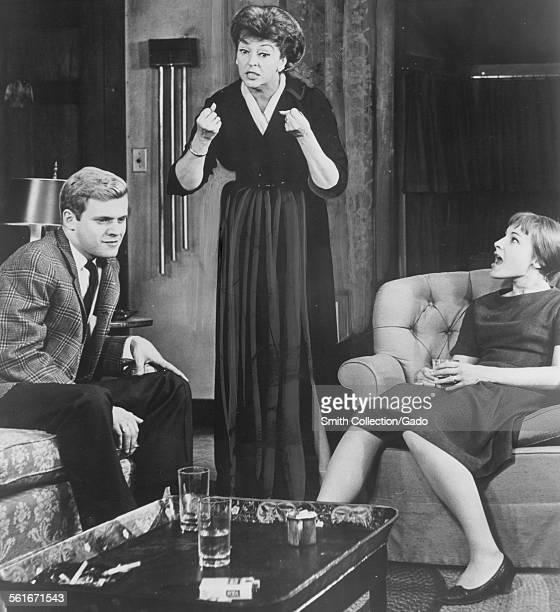 Ken Kercheval Nancy Kelly and Barbara Dana in 'Who's Afraid of Virginia Wolf' opening at the Geary Virginia December 8 1963