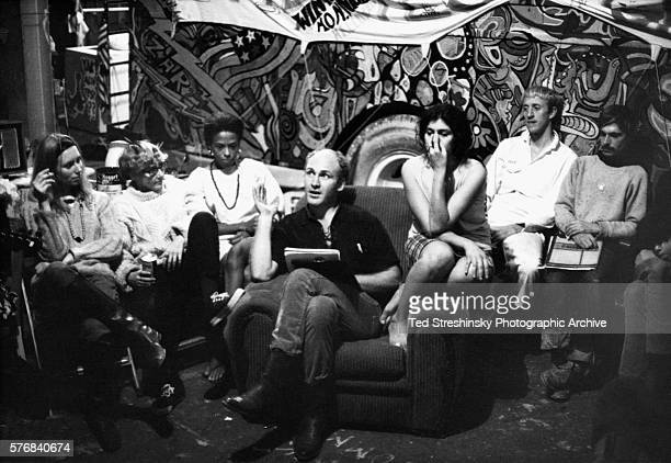 Ken Kesey author and leader of the psychedelic movement speaks to the Merry Pranksters San Francisco 1966