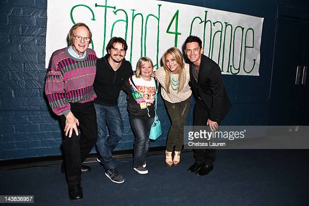 Ken Kragen actors Jason Ritter Lauren Potter Cassie Scerbo and R Brandon Johnson attend the first annual STAND4CHANGE Against Bullying day on May 4...
