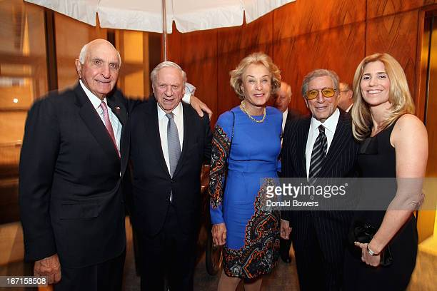 Ken Langone John Veronis Elaine Langone Tony Bennett and Susan Bennett attend The Through The Kitchen Party Benefit For Cancer Research Institute on...