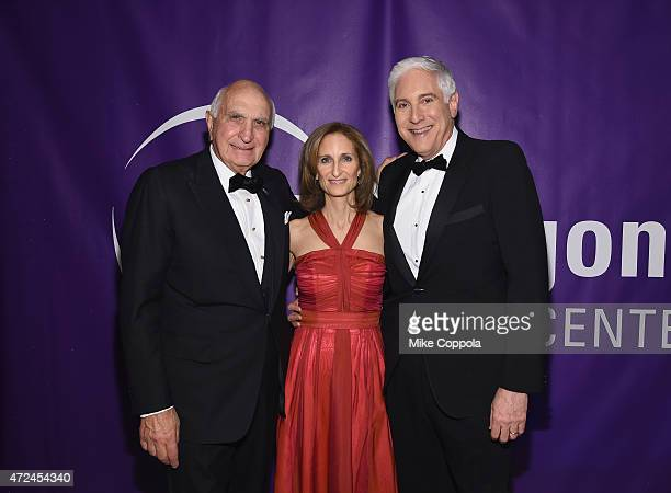 Ken Langone Kate Lear and Jonathan LaPook attends the NYU Langone Medical Center's 2015 Violet Ball on May 7 2015 in New York City