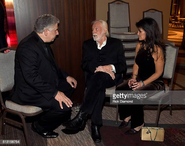 Ken Levitan Kenny Rogers and wife Wanda Miller attend the TJ Martell Foundation 8th Annual Nashville Honors Gala at the Omni Nashville Hotel on...