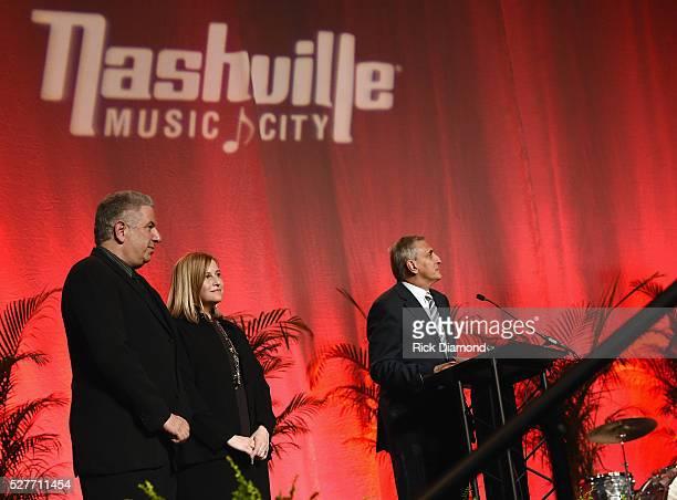 Ken Levitan Nashville Board Chair founder Vector Management Nashville Mayor Megan Barry and Butch Spyridon President/CEO Nashville CVC attend...