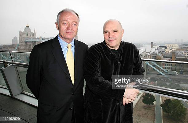 Ken Livingstone and Anthony Minghella during The Times BFI London Film Festival News Conference and Photocall in London at City Hall in London Great...