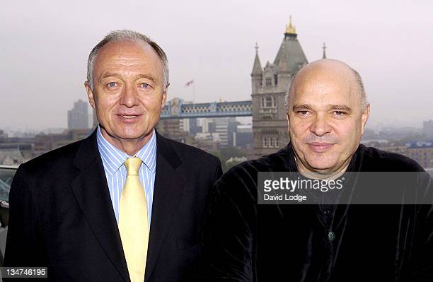 Ken Livingstone and Anthony Minghella during The Times BFI London Film Festival 2006 News Conference and Photocall at City Hall in London Great...