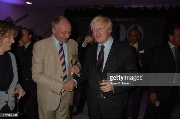 Ken Livingstone and Boris Johnson attend The Evening Standard's 1000 most Influential people in London 2007 launch party at the Design Museum on...