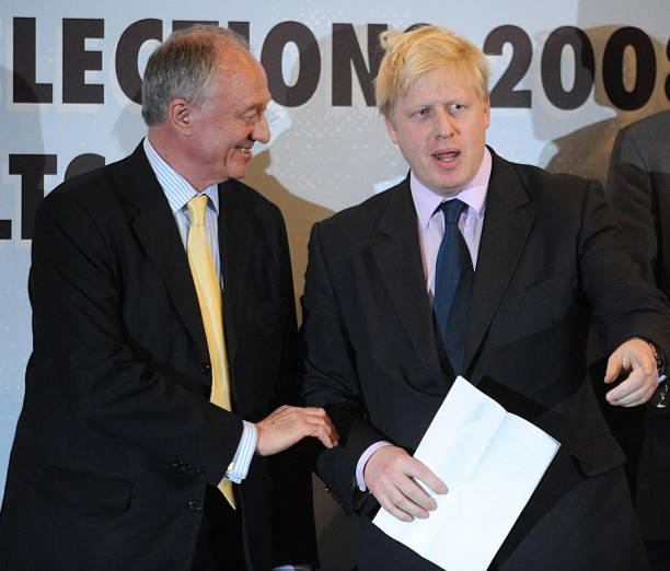 Image result for ken livingstone - boris johnson mayoryal election 2008