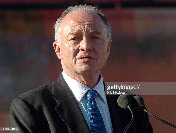 Ken Livingstone during Vigil in Trafalgar Square to Remember the Victims of the London Terrorist Attacks at Trafalgar Square in London Great Britain